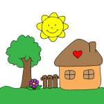 disegno-casa-in-campagna-colorato-agriturismo